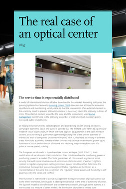 The real case of an optical center