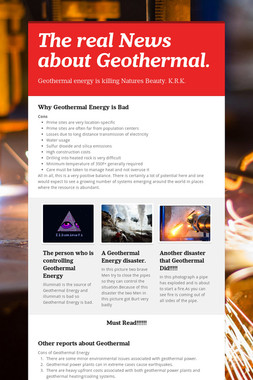 The real News about Geothermal.
