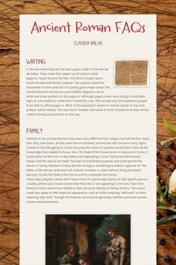 Ancient Roman FAQs