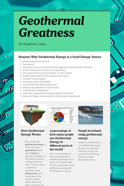 Geothermal Greatness
