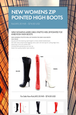 NEW WOMENS  ZIP POINTED HIGH BOOTS