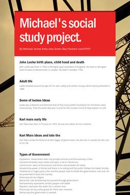 Michael's social study project.
