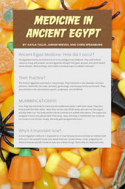Medicine in Ancient Egypt