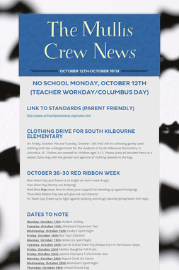 The Mullis Crew News