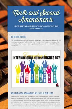 Ninth and Second Amendments