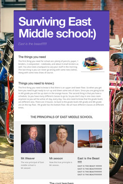 Surviving East Middle school:)