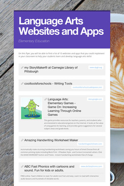 Language Arts Websites and Apps