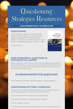 Questioning Strategies Resources