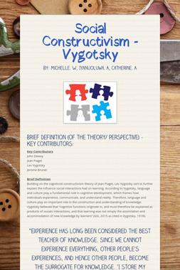 Social Constructivism - Vygotsky