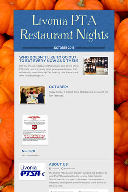 Livonia PTA Restaurant Nights