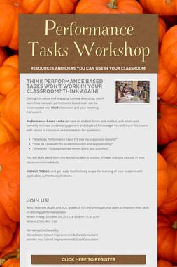 Performance Tasks Workshop