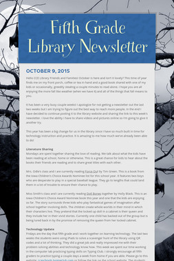 Fifth Grade Library Newsletter