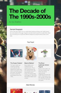 The Decade of The 1990s-2000s