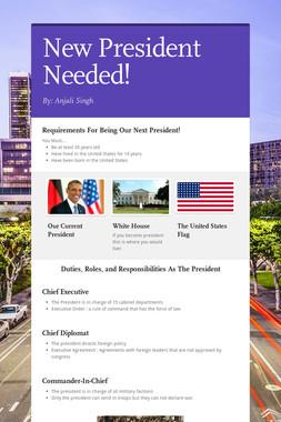 New President Needed!