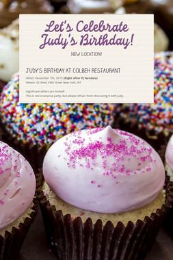 Let's Celebrate Judy's Birthday!