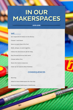 In Our Makerspaces
