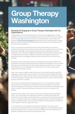Group Therapy Washington