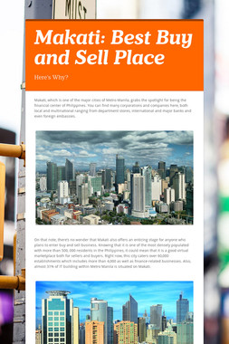 Makati: Best Buy and Sell Place