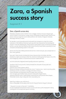 Zara, a Spanish success story