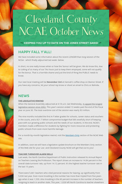 Cleveland County NCAE October News