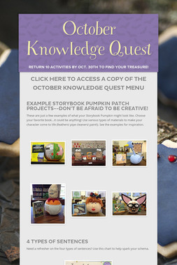 October Knowledge Quest