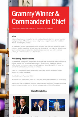 Grammy Winner & Commander in Chief