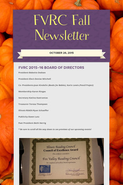 FVRC Fall Newsletter