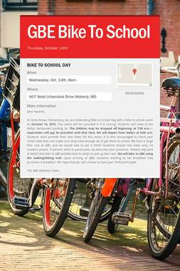 GBE Bike To School