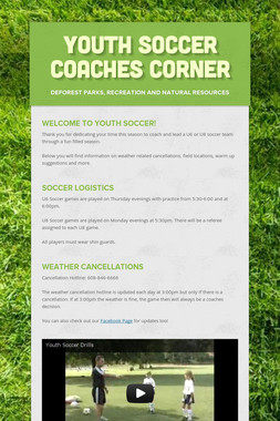 Youth Soccer Coaches Corner