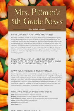 Mrs. Pittman's 5th Grade News