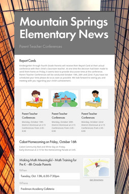 Mountain Springs Elementary News