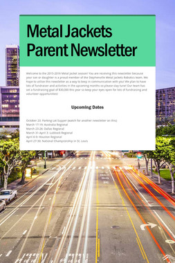 Metal Jackets Parent Newsletter