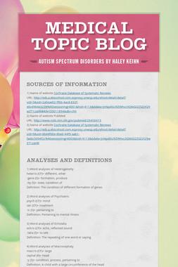 Medical topic blog