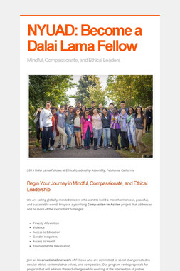 NYUAD: Become a Dalai Lama Fellow