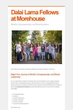 Dalai Lama Fellows at Morehouse