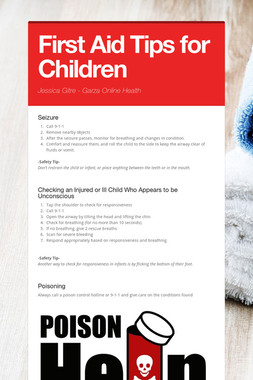 First Aid Tips for Children