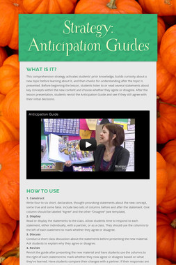 Strategy: Anticipation Guides