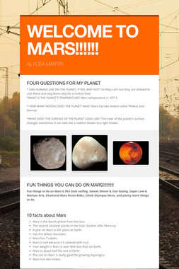 WELCOME TO MARS!!!!!!