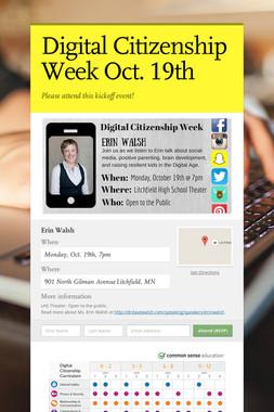 Digital Citizenship Week Oct. 19th