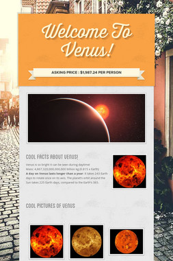 Welcome To Venus!