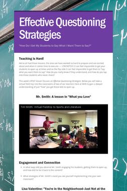 Effective Questioning Strategies