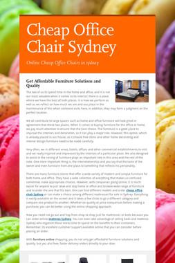 Cheap Office Chair Sydney