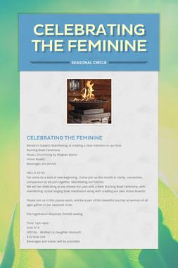 Celebrating the Feminine