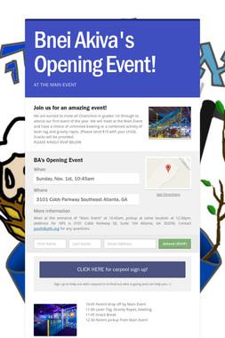 Bnei Akiva's Opening Event!