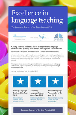 Excellence in language teaching