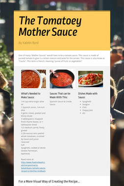The Tomatoey  Mother Sauce