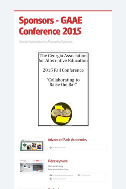 Sponsors - GAAE Conference 2015