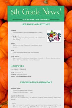 5th Grade News!