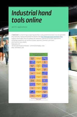 Industrial hand tools online