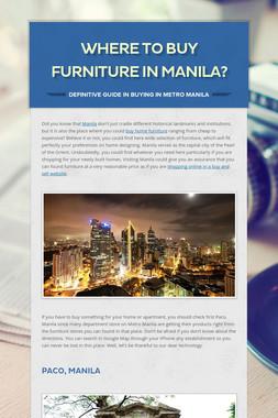 Where to Buy Furniture in Manila?